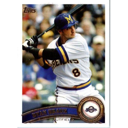 2011 Topps Baseball Card 1 Ryan Braun Trade Cards Now