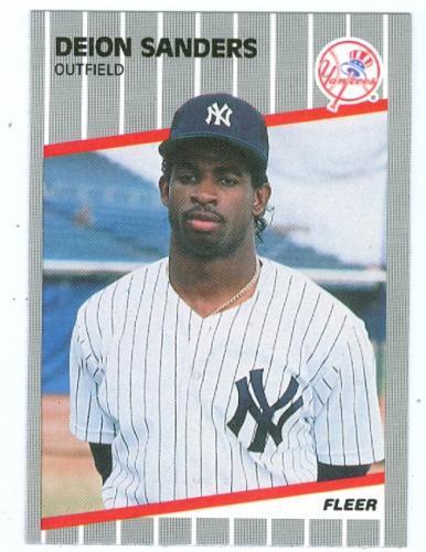 Deion Sanders 1989 Fleer U 53 Rookie Card